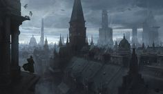Are Your Favorite Concept Art Pieces Of The Imperium? Dark Fantasy, Fantasy City, Fantasy Places, Sci Fi Fantasy, Fantasy World, Matte Painting, Environment Concept Art, Environment Design, Eternal Crusade