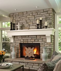 Large Chubby Fireplace Mantel Shelf With Custom Made Corbels