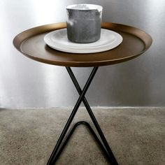 Soy candle on concrete plate