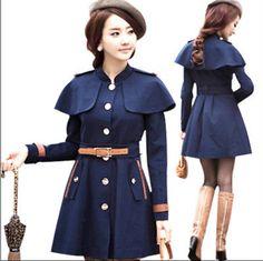2014 new autumn and winter fashion Korean Slim woolen coat jacket 9033 #