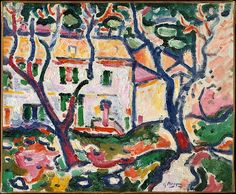 Art Georges Braque HOUSE BEHIND TREES