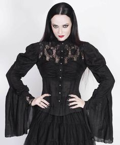 VG-19417 - Gothic Top with Long Sleeve