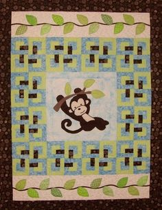 Cute idea. Generally plan a center appliqué and surround it with a block. Add top and bottom piece to make it rectangle like this one.