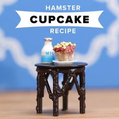 How To Make Tiny Cupcakes For Your Hamster Diy Hamster Food, Dwarf Hamster Food, Hamster Diet, Hamster Bin Cage, Cool Hamster Cages, Hamster Names, Hamsters As Pets, Hamster Toys, Dwarf Hamsters