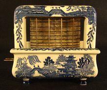 Porcelain TOASTRITE Toaster - Rare Blue Willow Pattern