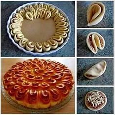 Crisantemo salato sfogliato Recipes to Cook Appetizer Recipes, Dessert Recipes, Bread Shaping, Bread Art, Good Food, Yummy Food, Puff Pastry Recipes, Bread And Pastries, Creative Food