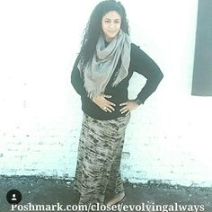 New Tie-Dye Maxi Skirt New maxi skirt grey and black very trendy and comfortable for playful moments. 4 available 3 in a size large and one extra large. Do not buy this listing. I will do a listing for you. bellino clothing  Skirts Maxi