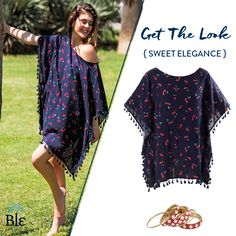 Sweet!  Fruit patterns, like the one in the picture, create a fresh and youthful everyday look!  Like it? Wear it!  Get the look here  http://www.ble-shop.com/catalog/product/view/id/3166/s/blouse-in-blue-color-w-red-cherries-one-size-100-viscose/ http://www.ble-shop.com/jewelery/bracelets/set-of-five-pcs-bracelet-red-flame-6x8x8.html #JuicyStyle #SummerClothes #SummerShopping #Shopping #SummerStyle #SummerFashion