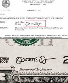 "Stephen Colbert calls Jack Lew's signature ""pubic hair masquerading as an autograph"" haha"