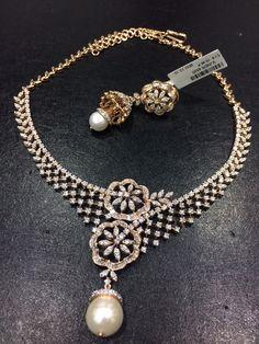 Diamond Jewelry, Diamond Necklaces, Diamond Earrings, Bridal Jewelry, Jewelry Box, India Jewelry, Bangles, Bracelets, Necklace Set