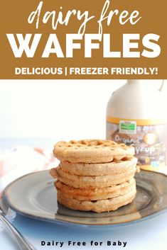 These dairy free waffles are packed with cinnamon sugar flavor! They're one of my family's favorite dairy free breakfasts. Cinnamon Waffles, Cinnamon French Toast, Dairy Free Waffles, Flaxseed Flour, Dairy Free Breakfasts, Cranberry Muffins, Baking Flour, Breakfast For Kids, Baby Food Recipes