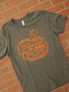 Pumpkin Word Art T-Shirt/Wordy Pumpkin by RusticSunflowerApprl