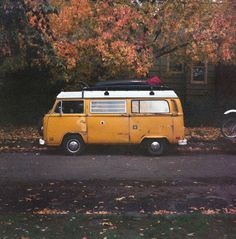 Tomorrow I bid goodbye to my (not so) faithful steed for a while and head north. Been planning and training for this trip for the better… Volkswagen Transporter, Vw T1, T2 Bus, 120 Film, Motorhome, Camper, Faith, Portland, Hippie