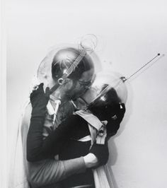 Boy meets girl – from Outer Space, Weegee (Arthur Fellig), Spaceage, New York Science Fiction, Weegee, Future Love, Ligne Claire, Boy Meets Girl, Space Photos, Damien Hirst, To Infinity And Beyond, Outer Space
