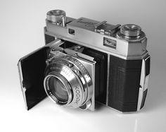 Kodak Retina II    The camera I took to  Europe in 1954.  Took slides with ASA 25 film.  Still just beautiful.