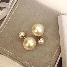 Pair Of Characteristic Faux Pearl Stud Earrings For Women