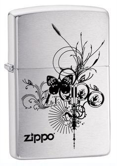 Save $6.15 on Zippo Logo Pocket Lighter with Butterfly; only $15.80