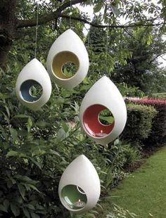 Ceramic Tea Light Holders for the Garden