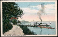 Conneaut Lake PA Steamer, Iroquois at the Oakland Boat Landing