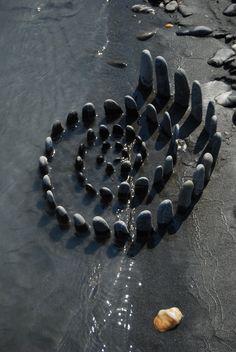spiral of standing stones - switzerland #smoothestdayever