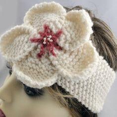 Aran Knit Headband - Pink Centre Beaded Anemone, Paradis Terrestre - Luxury British Made Accessories & Homeware Knit Headband, Modern Hippie, Handmade Headbands, Unique Cards, Centre, Winter Hats, Greeting Cards, British, Crochet Hats