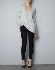 TWISTED YARN SWEATER - Knitwear - Woman - ZARA Austria