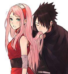 Sasuke and Sakura Itachi Uchiha, Naruto Shippuden Sasuke, Anime Naruto, Naruto Comic, Naruto Sasuke Sakura, Naruto Cute, Naruto Girls, Boruto, Narusaku