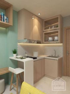 Small apartment kitchen - Elegant Minimalist Design Ideas For Tiny Home Decor COODECOR – Small apartment kitchen Condo Interior Design, Condo Design, Küchen Design, Layout Design, House Design, Design Ideas, Design Concepts, Interior Ideas, Kitchen Room Design