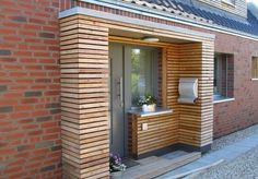 Home and garden ideas Wood can be used in many ways. From planning to technical . - front yard ideas Home and garden ideas Wood can be used in many ways. From planning to specialist house and garden i House Extensions, Home, Roof Cladding, House Entrance, Front Door, Wooden Facade, Shed Homes, Home And Garden, House Exterior