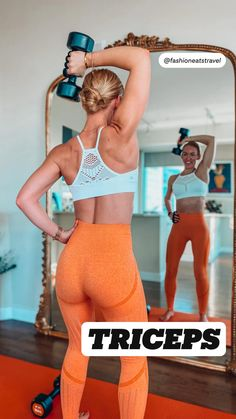 Fitness Workout For Women, Fitness Diet, Fitness Motivation, Dumbbell Workout, Biceps And Triceps, Shoulder Workout, Workout Videos, Upper Body, Fit Motivation