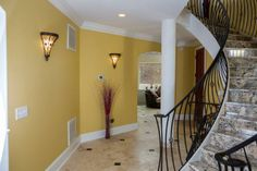 Beautiful stairs and open space downstairs