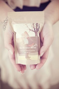 Coffee Favors: The Perfect Blend personalized with an engagement photo
