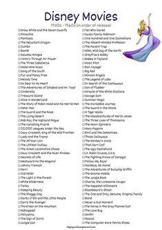 Disney Movies - Snow White and the Seven Dwarfs, Pinocchio, Disney Original Movies, Disney Movies To Watch, Film Disney, Best Disney Movies, Good Movies, All Disney Channel Movies, Disney Princess Movies List, Classic Disney Movies, Disney Songs