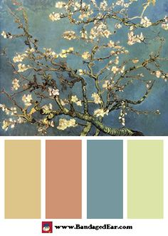 Spring Color Palette: Blossoming Almond Tree, Saint-Remy by Vincent Van Gogh