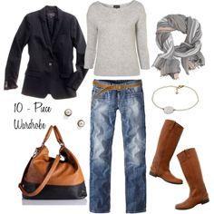 """Look #10"" by bluehydrangea on Polyvore #wardrobearchitect #wardrobechallenge"