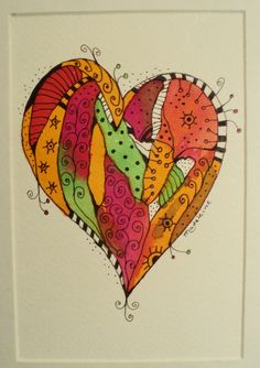 Ecoline & ink heart | Flickr - Photo Sharing!
