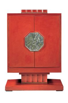 Art Deco Red Lacquer Cabinet by Émile-Jacques Ruhlmann, Paris Art Deco Decor, Art Deco Stil, Art Deco Home, Art Deco Design, Decoration, Bauhaus, Arte Art Deco, Art Deco Furniture, Furniture Makers