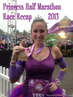 runDisney Princess half race recap with a PR! Check out my costume as well as get race tips. Disney Half Marathon, Disney Princess Half Marathon, Run Disney Costumes, Running Costumes, Disney Races, Disney 10k, Disney Events, Half Marathon Training, Racing