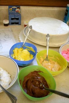 """How to Decorate a Cake like a pro using a coloring book page-""""This really does work and is so simple! I left it to sit in the freezer for over an hour though""""-Stacy"""