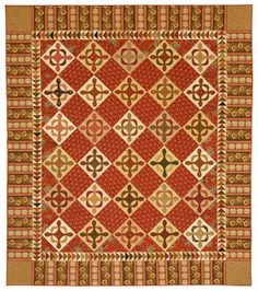 I love the warmth of Jo Morton's quilts