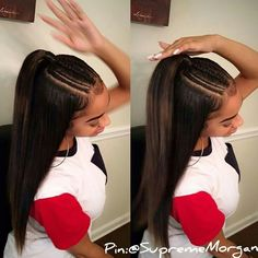 Inexpensive Black Girls Hairstyles Ideas - Hiền Thu - Inexpensive Black Girls Hairstyles Ideas Marvelous Tips: Messy Hairstyles Bohemian brunette hairstyles straight. Baddie Hairstyles, Black Girls Hairstyles, Ponytail Hairstyles, African Hairstyles, Brunette Hairstyles, Hairstyles 2018, Birthday Hairstyles, Gorgeous Hairstyles, Hair Ponytail
