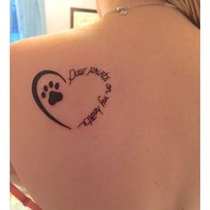Dog tattoo inspiration - Tap the pin for the most adorable pawtastic fur baby ap. - Dog tattoo inspiration – Tap the pin for the most adorable pawtastic fur baby apparel! Tatoo Dog, Dog Tattoos, Animal Tattoos, Body Art Tattoos, Small Tattoos, Tatoos, Tattoos For Pets, Cat Paw Print Tattoo, Puppy Tattoo
