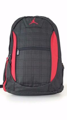 NWT NIKE JORDAN Jumpman Backpack Black Red Laptop Tablet Storage Bag  9A1137-391 929c1106e0743