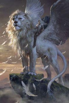 Imagen de fantasy, lion, and art