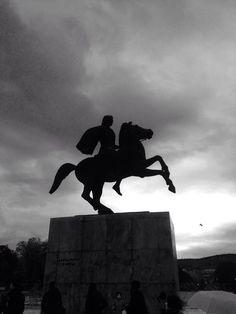 Great Alexander's statue.