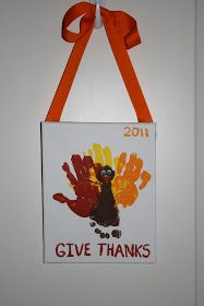 Will Work For Eskimo Kisses: Turkey Handprint/footprint Craft