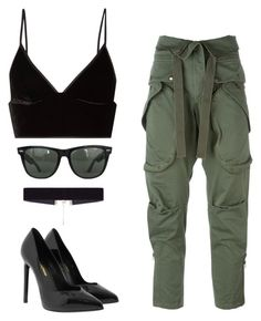 """""""Untitled #270"""" by ipinkiee ❤ liked on Polyvore featuring Faith Connexion, T By Alexander Wang, Ray-Ban, Yves Saint Laurent and 8 Other Reasons"""