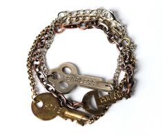 """I love The Giving Keys company... a bit about them from their site """"The Giving Keys exists to employ those transitioning out of homelessness to make jewelry out of repurposed keys that get sold and shared around the world."""" Featured here is the Never Ending Bracelet - $48 CUSTOM words = additional $5"""