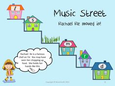 Music Street: Rachael Re moved in!  She is a chef on TV and loves to chop food up.... chop chop chop!