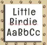 Little Birdie Embroidery Design Alphabet by 8Clawsandapaw.com